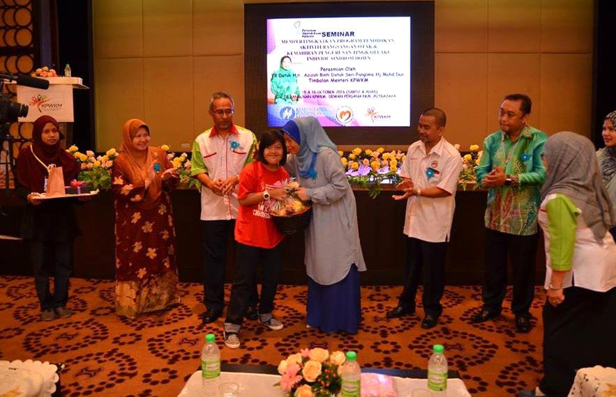 Seminar Mempertingkatkan Program Pendidikan Aktiviti Rangsangan Otak dan Kemahiran Pengurusan Tingkah Laku Individu dengan Sindrom Down